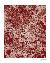 nc state cus map raleigh cityscape nc state map poster graphic city