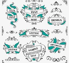 7 painted vintage ribbon vector graphics my free