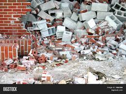 brick cinder block demolition image u0026 photo bigstock