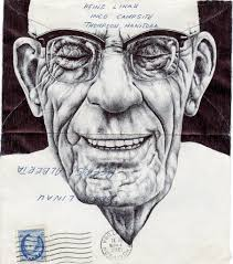 mark powell u0027s biro pen drawings on antique envelopes interview