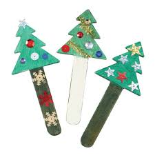 christmas trees craft sticks bulk saver from early years