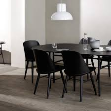 snaregade oval dining table in black veneer design by menu u2013 burke