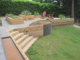 Woodretainingwallplantersjpg Retainer Walls Pinterest - Timber retaining wall design