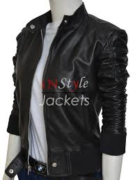 vented leather motorcycle jacket elena gilbert the vampire diaries leather jacket instylejackets