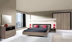 chambre complete adulte chambre complète adulte design noir et chêne 160x200 miya