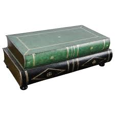 Trunk Like Coffee Table by French Leather Coffee Table In The Shape Of Books Circa 1950 At