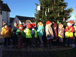 dressing the village tree for christmas st merryn