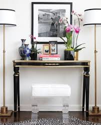 console table decor ideas art deco black console table decorating ideas with black and white