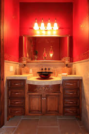 Tuscan Style Bathroom Ideas Mosaic Wood Accent Wall Powder Room Designs 2016 Antique Vanity