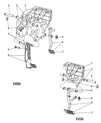 brake pedal service brakes for 2005 dodge ram 1500
