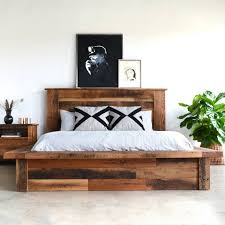 fancy reclaimed wood platform bed home decor pinterest