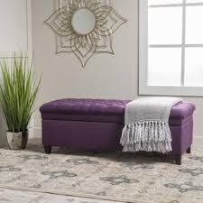 Purple Storage Ottoman Purple Ottomans Poufs You Ll Wayfair