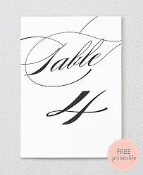 free table number templates free printable table numbers pretty script calligraphy from