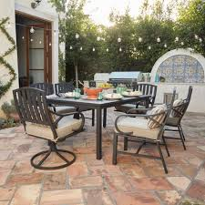 7 Pc Patio Dining Set - royal garden norman 7pc cushion outdoor patio dining set