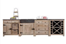 meuble cuisine en pin meubles de cuisine dessus bleue