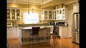 modern kitchen islands with seating youtube