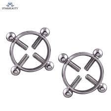 with nipple rings images 1pair titanium round non piercing nipple ring shield body piercing jpg