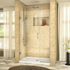 38 Shower Door Shop Dreamline Unidoor Plus 38 In To 38 5 In W Frameless Brushed