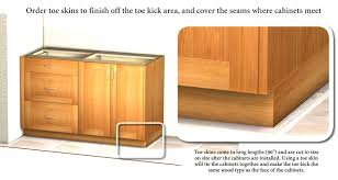 how is a cabinet toe kick base cabinet toe skin