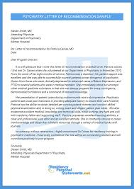 cover letter for residency great psychiatry letter of recommendation sle