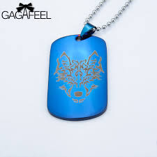 laser engraved dog tags gagaffel army necklace pendant laser engraving customized logo