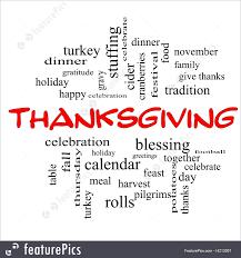 illustration of thanksgiving words
