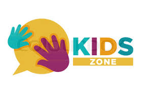 kids zone banner design children playground zone children place