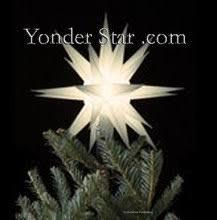 12 moravian tree topper white lighted yonder