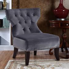 home kitchener velour accent chair