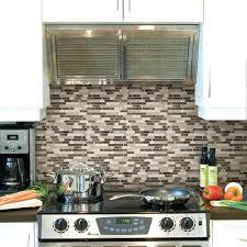 black tile backsplash kitchen tile tile the home depot in w x in h