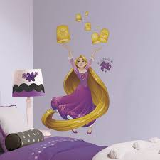 if your home is your castle then these princesses are ready to tangled rapunzel disney sparkling princess peel and stick giant wall decals