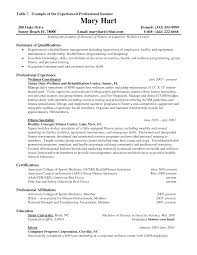 cover letter experienced resume examples work experience resume