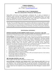 Resume Template Restaurant Manager Resume General Manager Resume Template