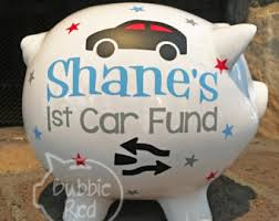 Customized Piggy Bank Personalized College Fund Piggy Bank