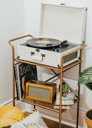 Record Player Storage Record Player Nook Livvyland Austin Fashion And Style Blogger