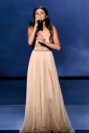 selena gomez champagne deep v neck celebrity prom dress american