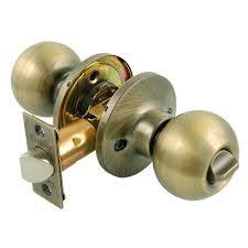 toledo fine locks antique brass privacy door knob lock set