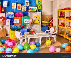 Wall Decoration With Balloons by Kindergarten Interior Decoration Child Picture On Stock Photo