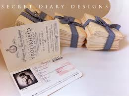 vintage passport wedding invitations passport kalidad prints and