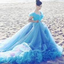 blue wedding dresses cinderella light blue wedding dresses cheap gown