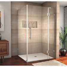 Glass Shower Doors Los Angeles by Delta 36 In X 36 In X 76 In 3 Piece Corner Frameless Shower