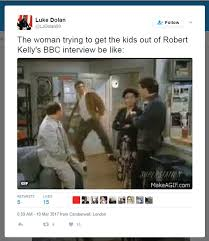 Adventures In Babysitting Meme - professor becomes internet meme legend after bbc interview daily