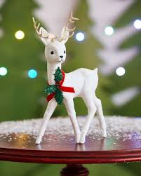 ino schaller white reindeer collectible small