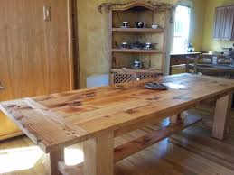 pretty natural wooden dining table classic rustic kitchen table