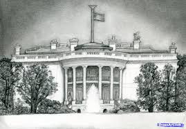 how to draw the white house step by step famous places