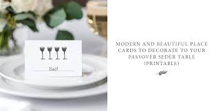 modern seder modern and beautiful place cards to decorate to your passover