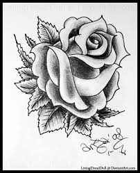 rose tattoo black and white free download clip art free clip