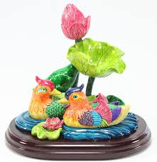 wedding gift stores feng shui mandarin ducks in lotus pond statues marriage luck