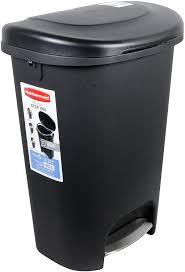 Designer Kitchen Trash Cans by Amazon Com Rubbermaid Step On Wastebasket Trash Can 13 Gallon