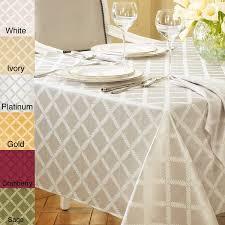 lenox laurel leaf lattice cotton blend tablecloth free shipping